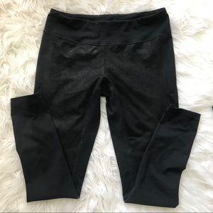 Zella Black Stretch Leggings Textured Med